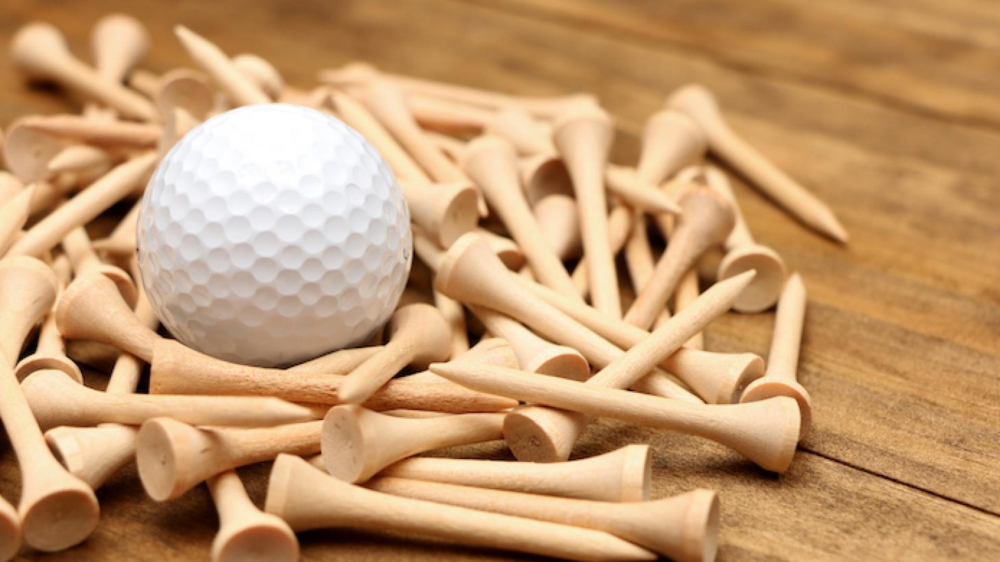 golf ball tees centerpiece